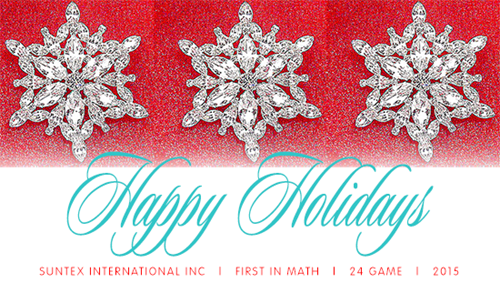 Happy Holidays from all of us at First In Math!